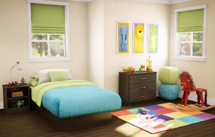 South Shore Smart Basics Chocolate Twin Platform Bedroom Collection