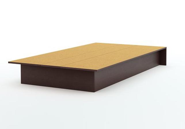 South Shore Smart Basics Chocolate Twin Platform Bed