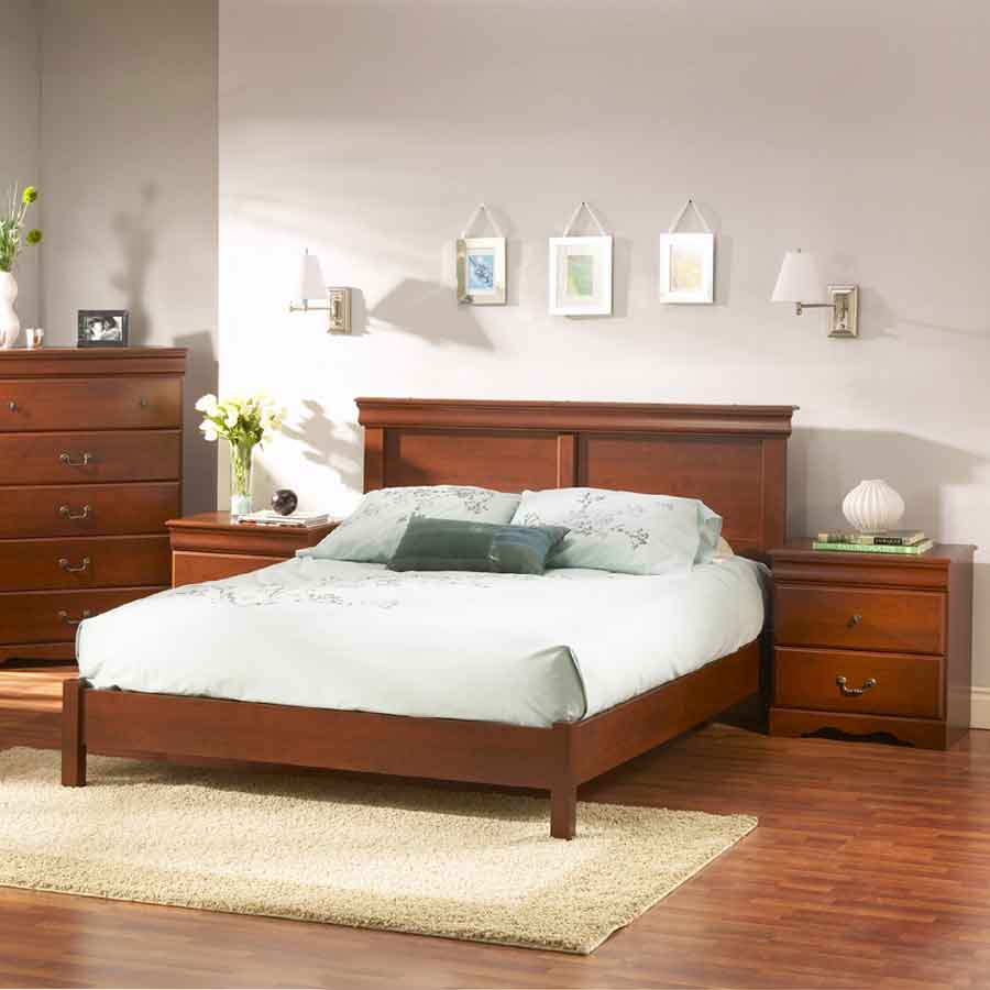 South Shore Vintage Classic Cherry Queen Bed