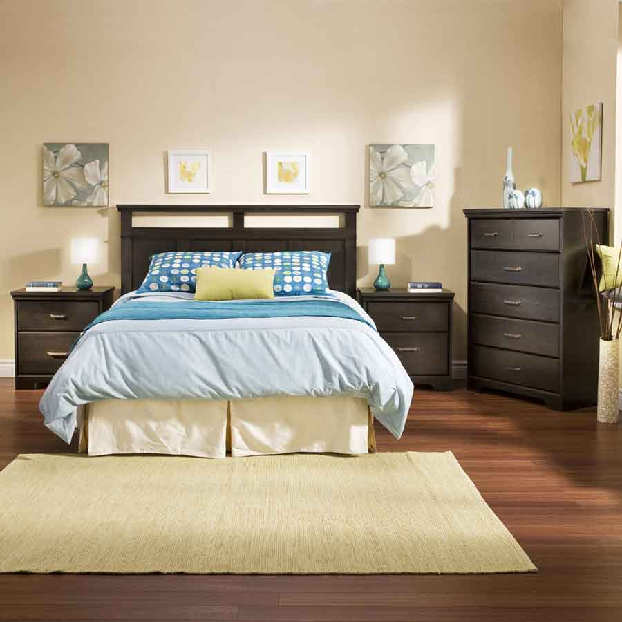 South Shore Versa Ebony Romance Bedroom Collection