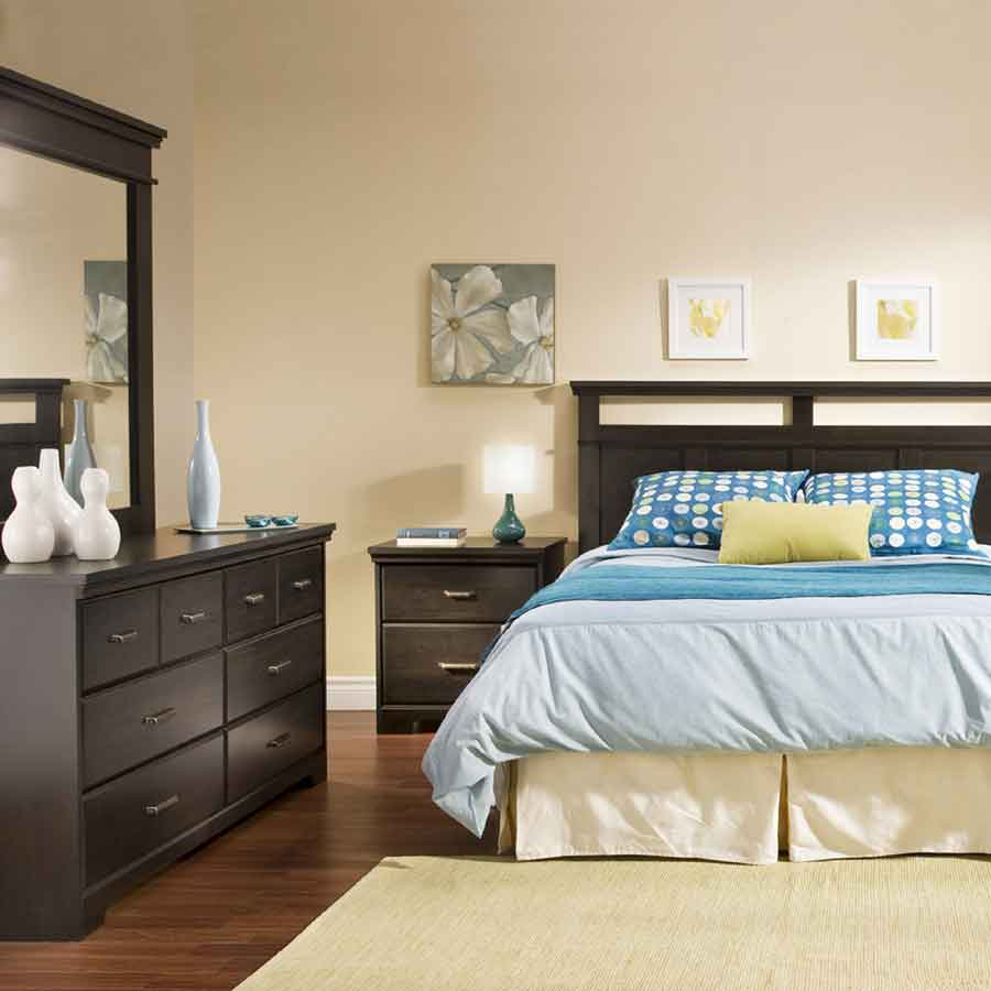 South Shore Versa Ebony Triple Dresser