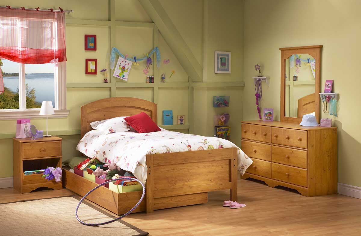 South Shore Prairie Country Pine Kids Bedroom Collection