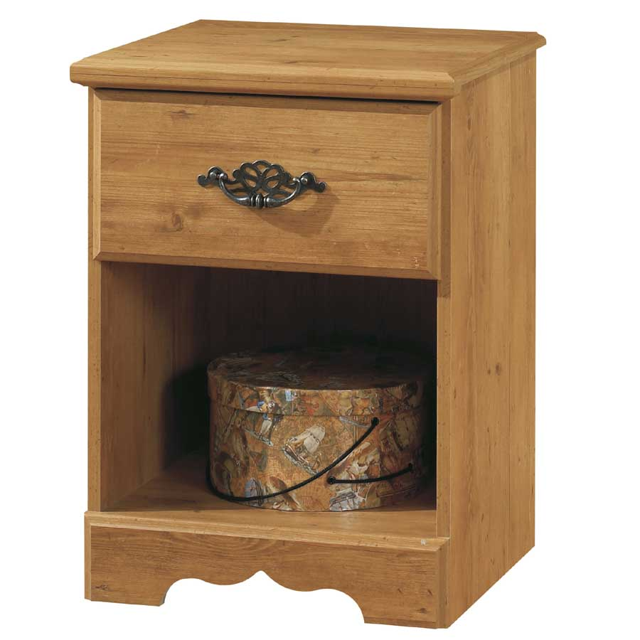 South Shore Prairie Country Pine Night Stand