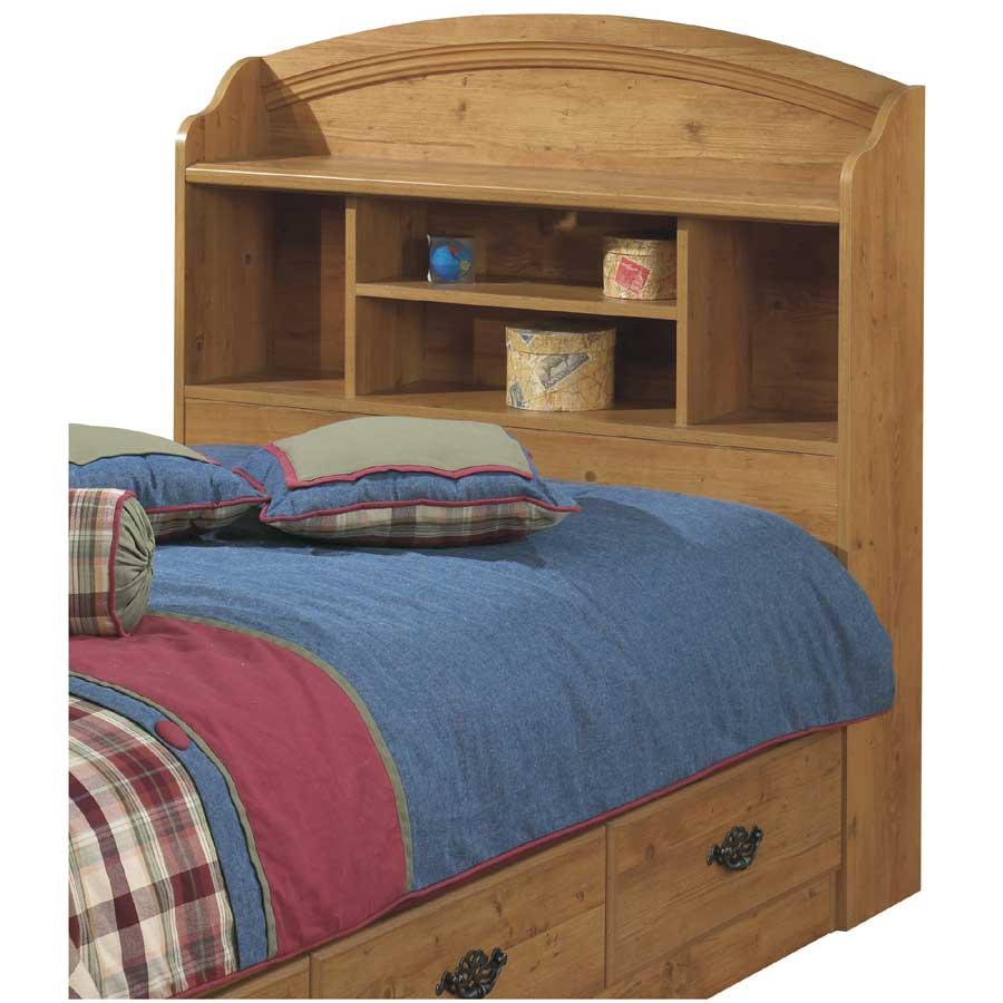 South Shore Prairie Country Pine Twin Bookcase Headboard