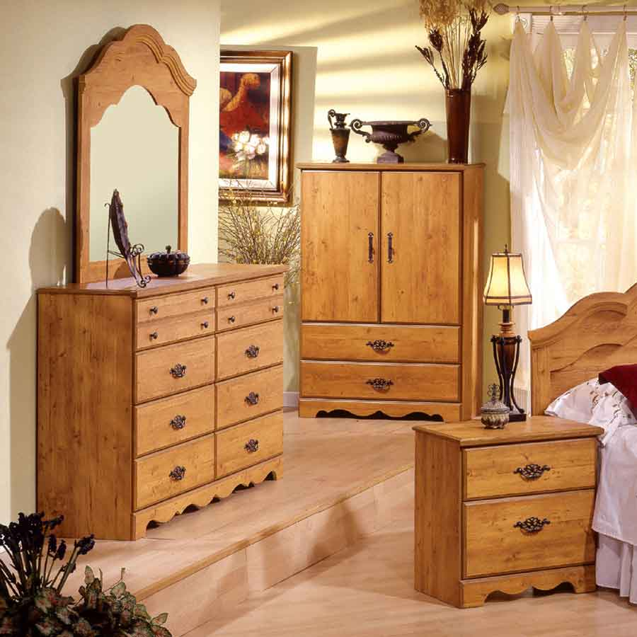 South Shore Prairie Country Pine Door Chest