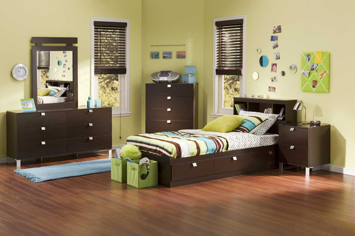 Cakao Chocolate Kids Bookcase Bedroom Collection - South Shore