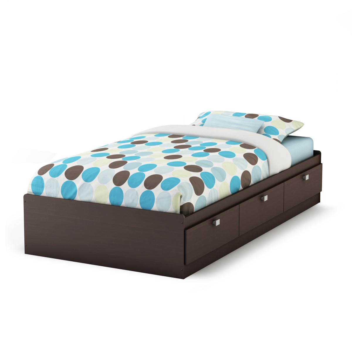 South Shore Cakao Twin Mates Bed - Chocolate