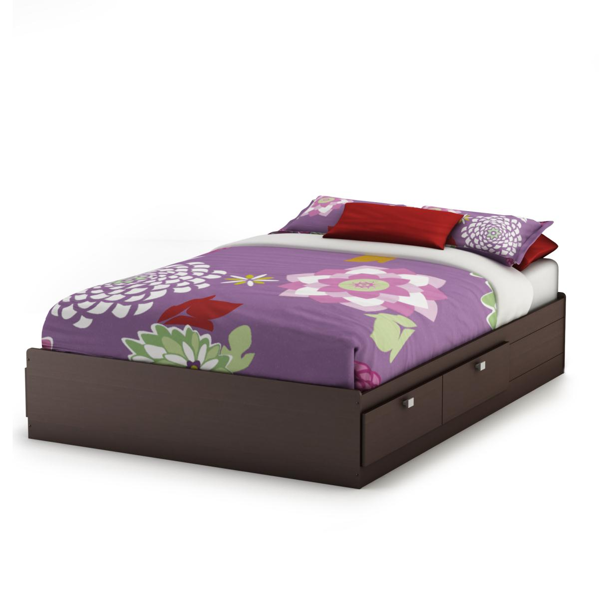 South Shore Cakao Full Mates Bed - Chocolate