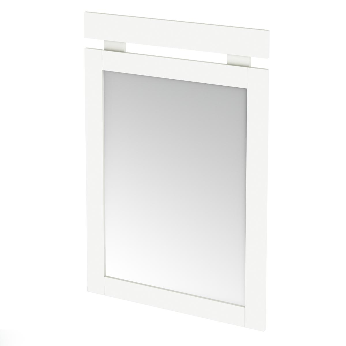 South Shore Sparkling Mirror 29 Inch x 43 Inch - Pure White