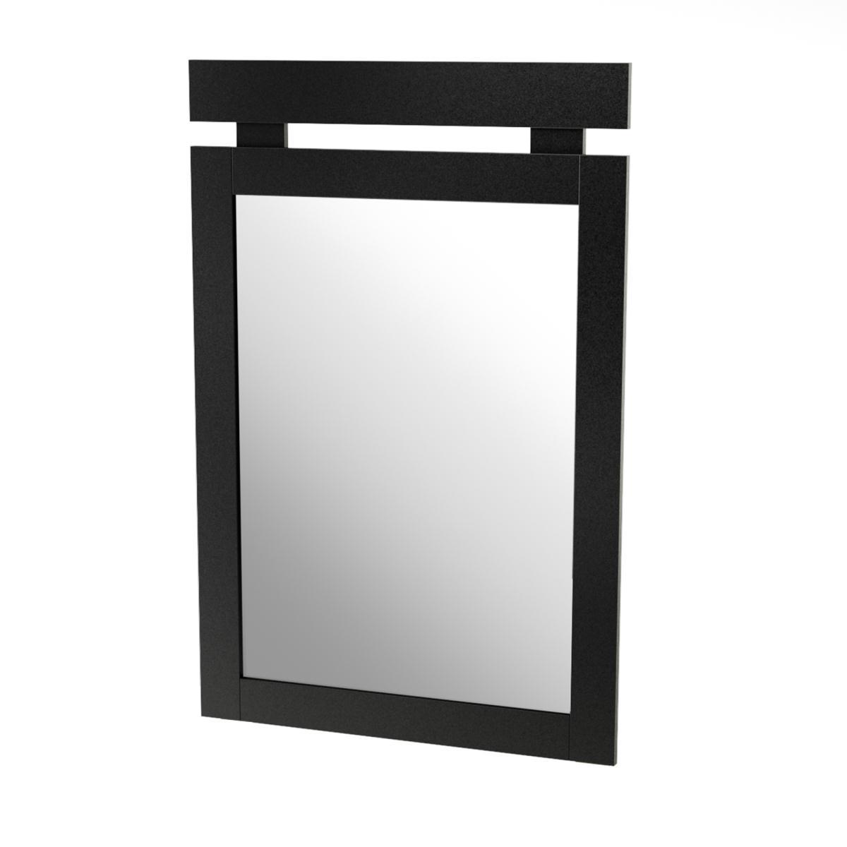 South Shore Spark Mirror 29 Inch x 43 Inch - Pure Black