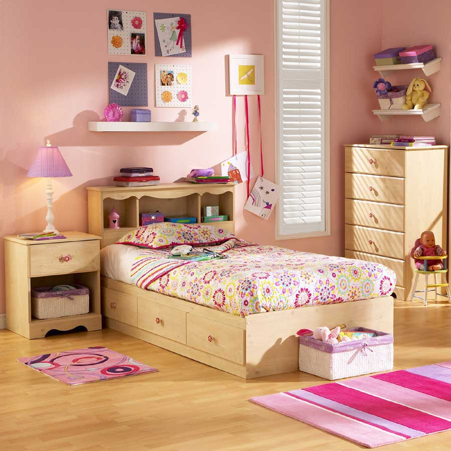 South Shore Lily Rose Romantic Pine Kids Bedroom
