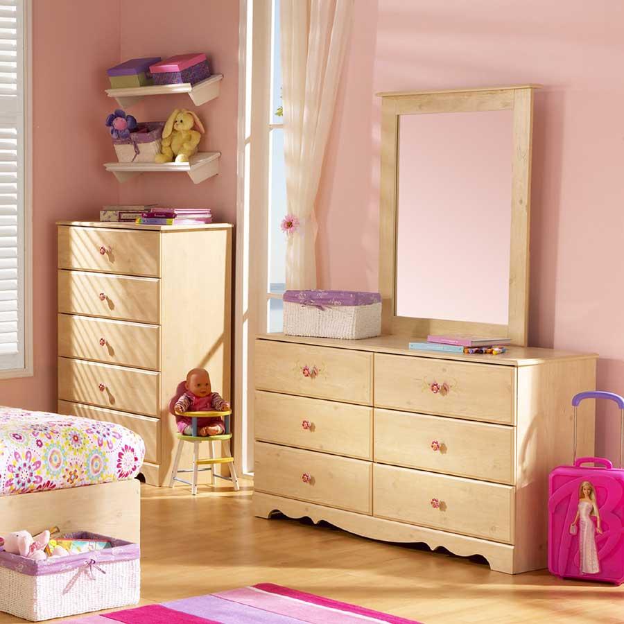South Shore Lily Rose Romantic Pine Dresser