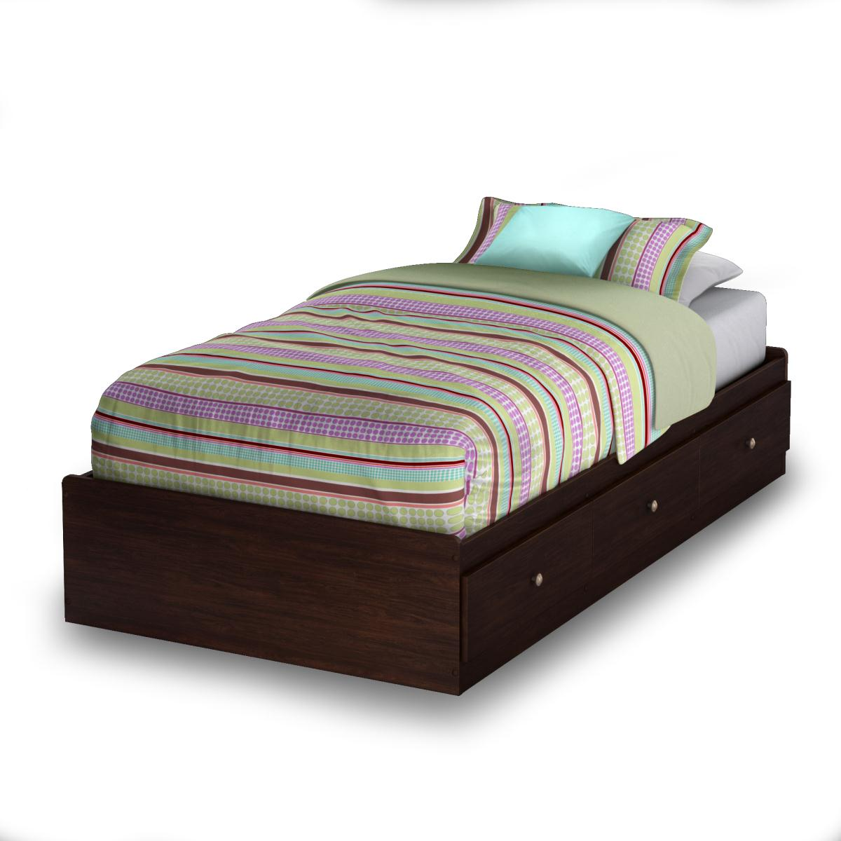 South Shore Willow Twin Mates Bed - Havana