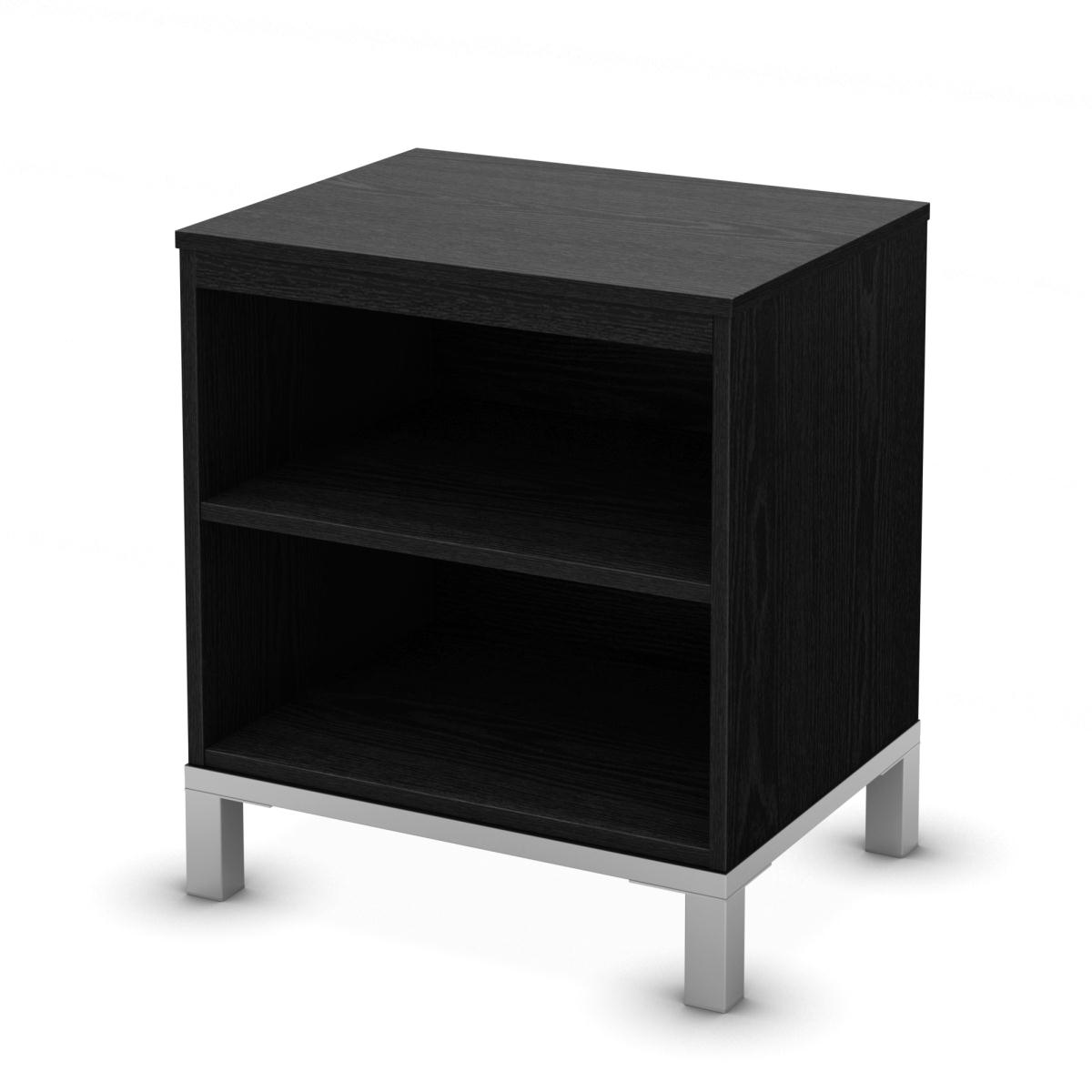 South Shore Flexible Night Stand - Black Oak