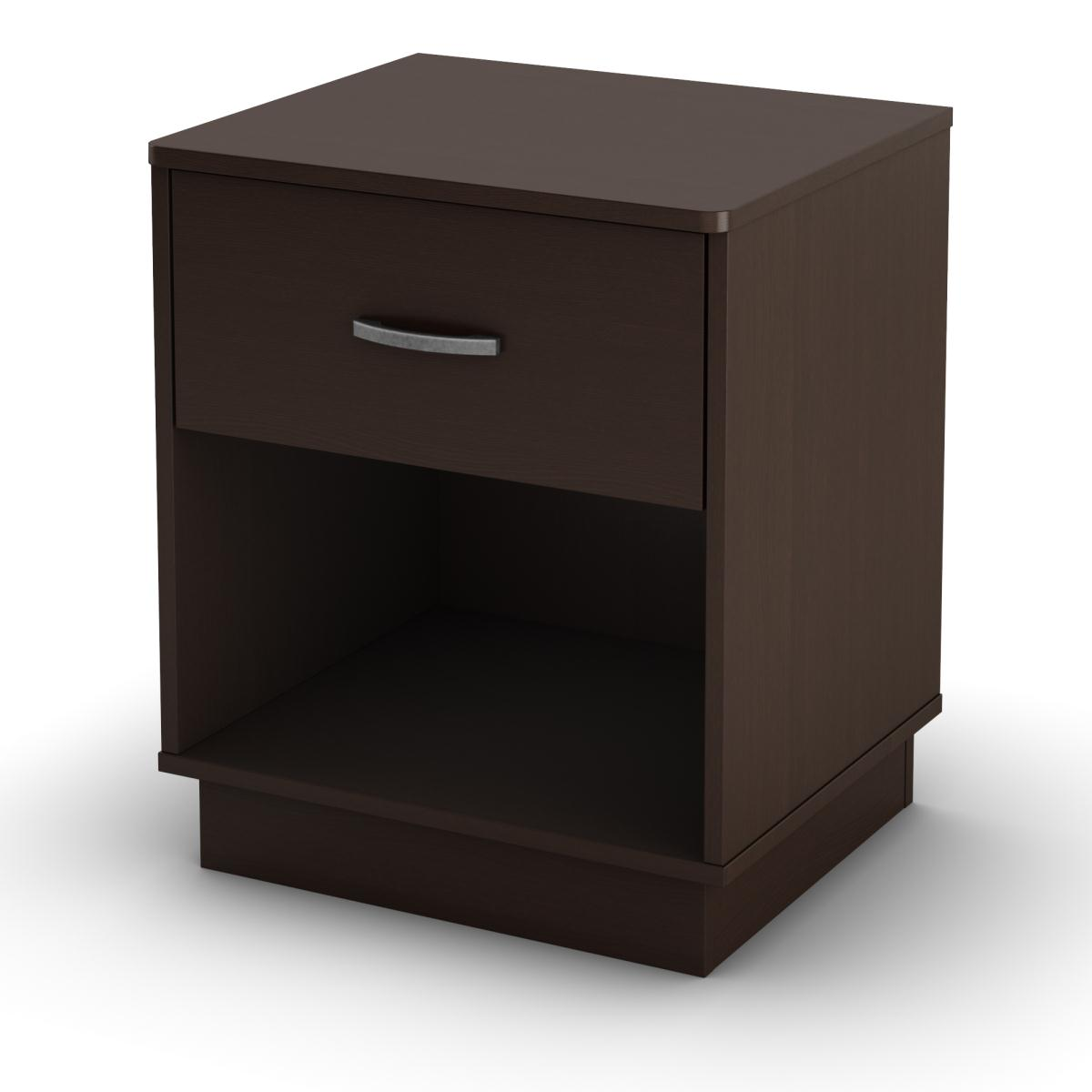 South Shore Logik Night Stand - Chocolate
