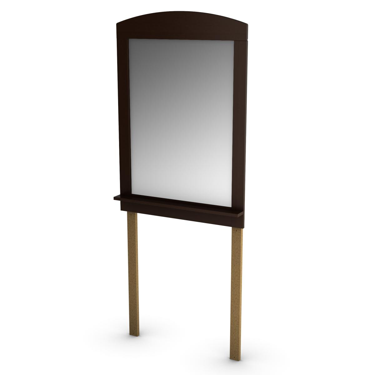South Shore Logik Mirror 28 Inch x 41 Inch - Chocolate