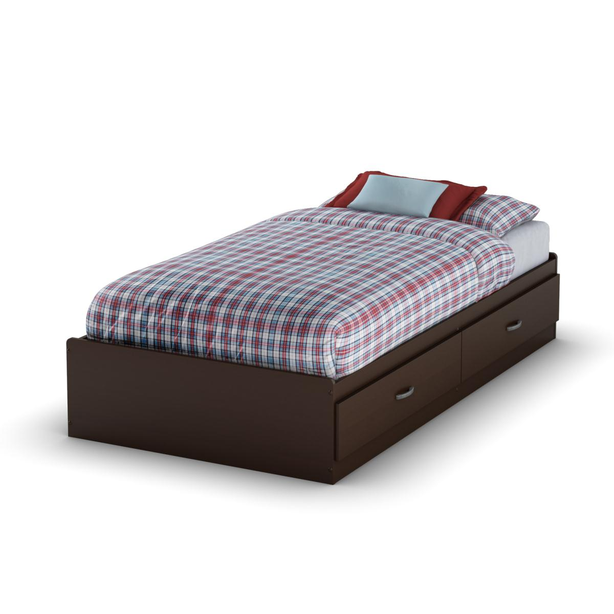 South Shore Logik Twin Mates Bed - Chocolate