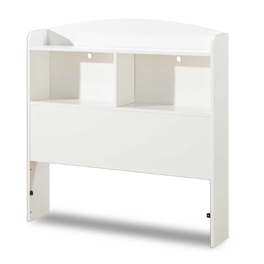 South Shore Logik Twin Bookcase Headboard - Pure White