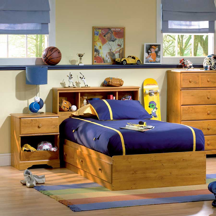 South Shore Little Treasures Country Pine Twin Mates Bed