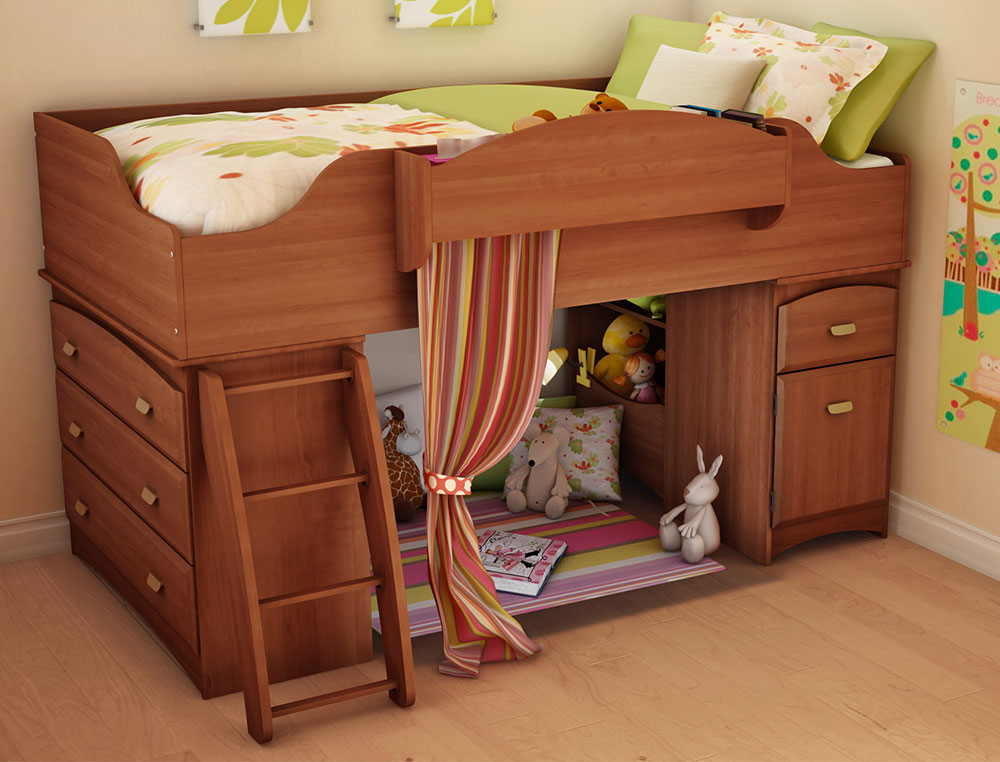 South Shore Imagine Morgan Cherry Twin Loft Bed