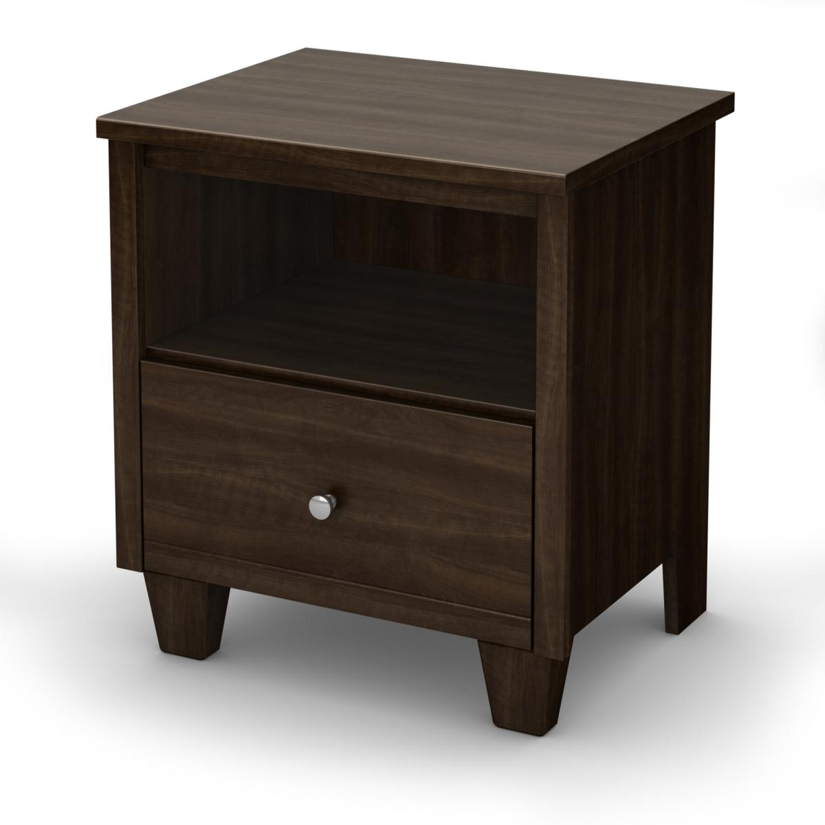 South Shore Clever Room Night Stand - Mocha