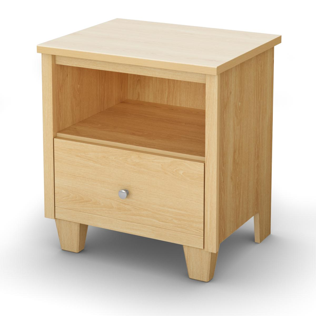 South Shore Clever Room Night Stand - Natural Maple