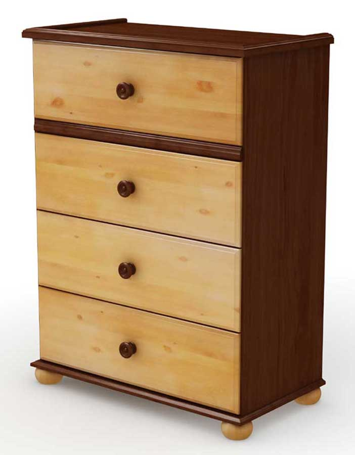 South Shore Tree House Sumptuous Cherry and Mellow Pine 4 Drawer Chest