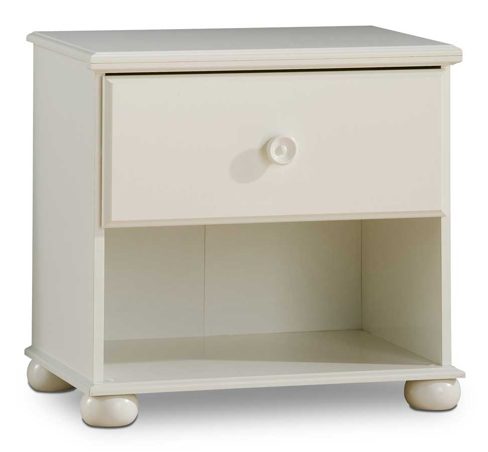 South Shore Sand Castle Pure White Night Stand