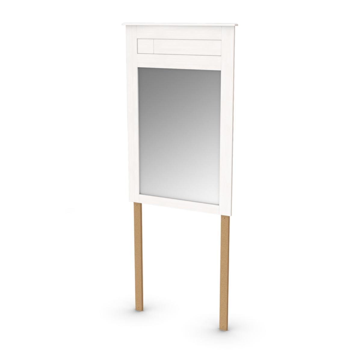 South Shore Vendome Mirror 31.5 Inch x 46.75 Inch - White Wash