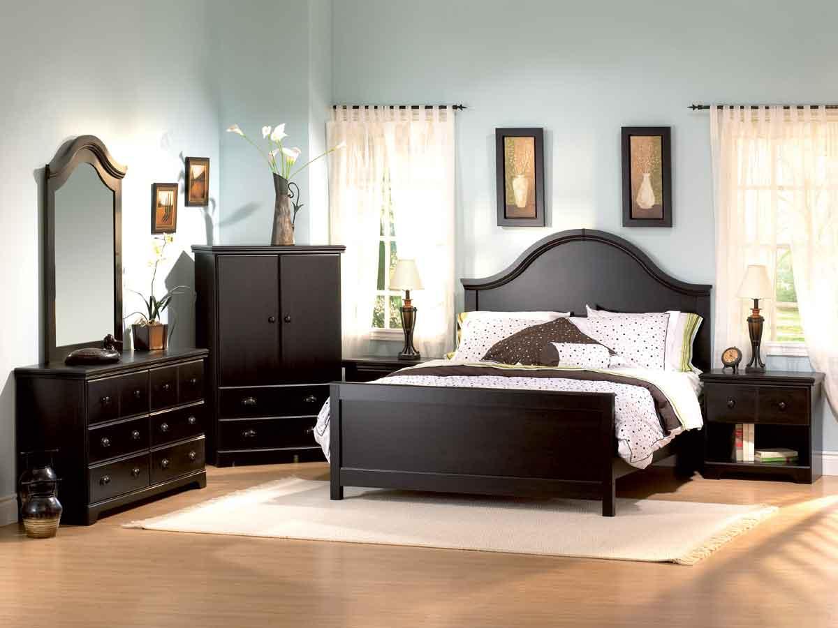 South Shore Mountain Lodge Ebony Romance Bedroom Collection