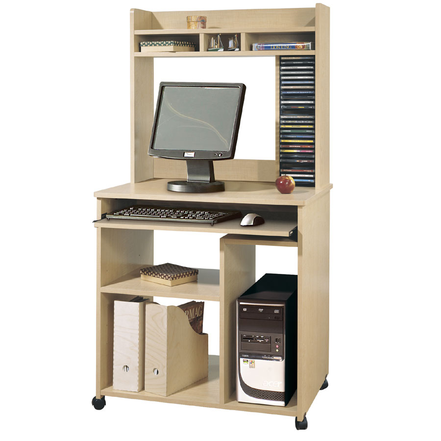 South S Morgan Natural Maple Computer Desk