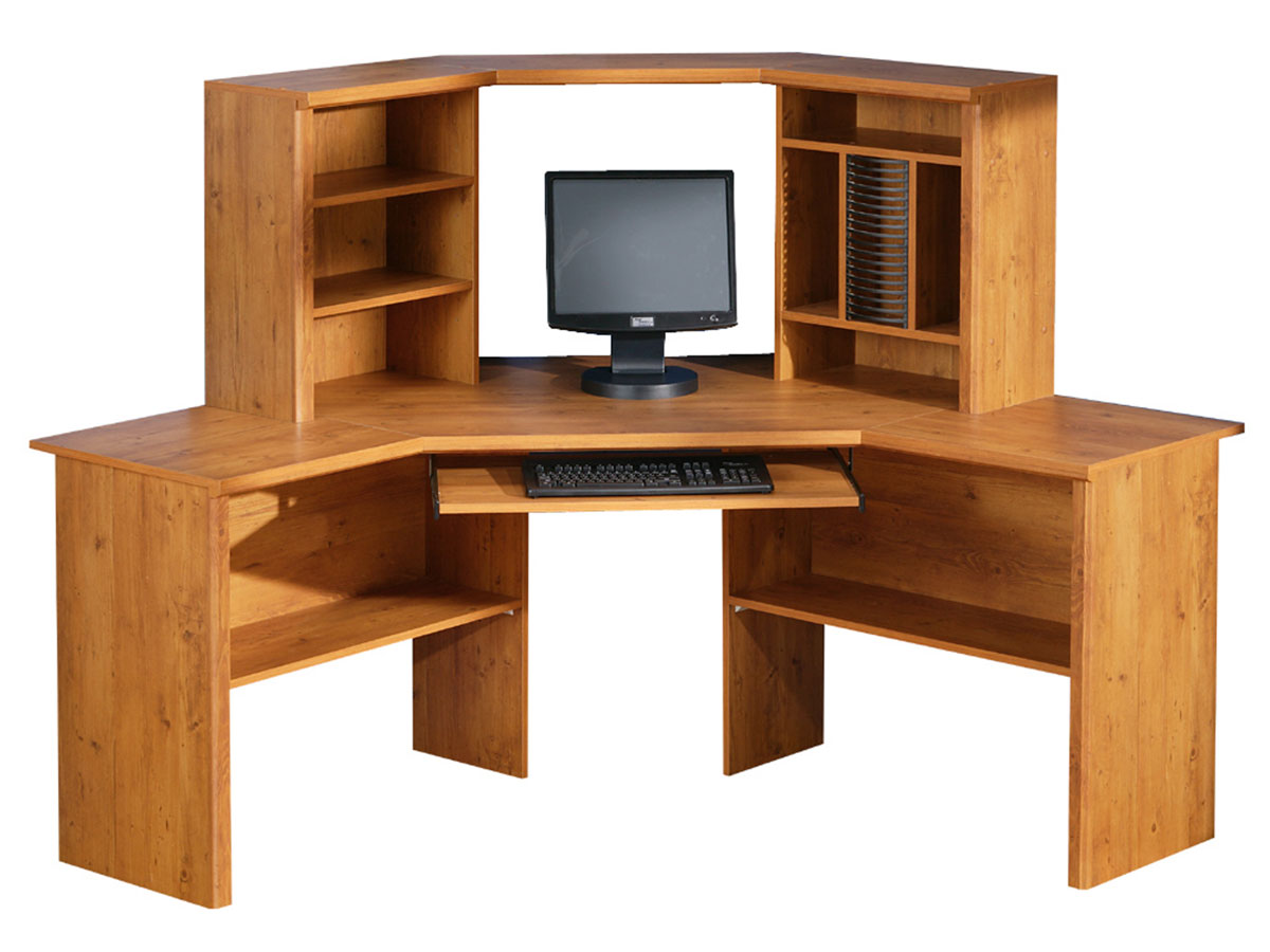 South shore prairie country pine corner desk 7232780 at - Pine corner desks ...