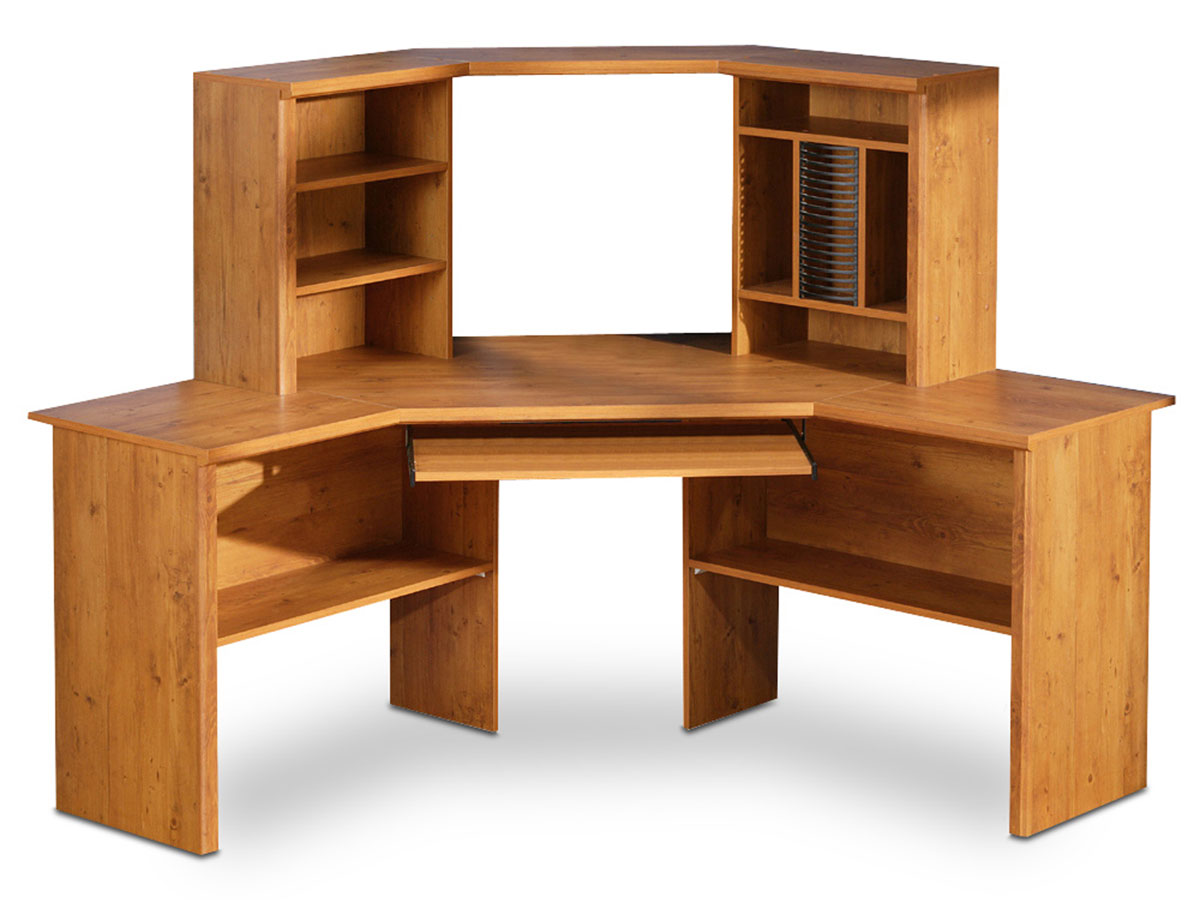 South Shore Prairie Country Pine Corner Desk 7232780 at Homelement.com