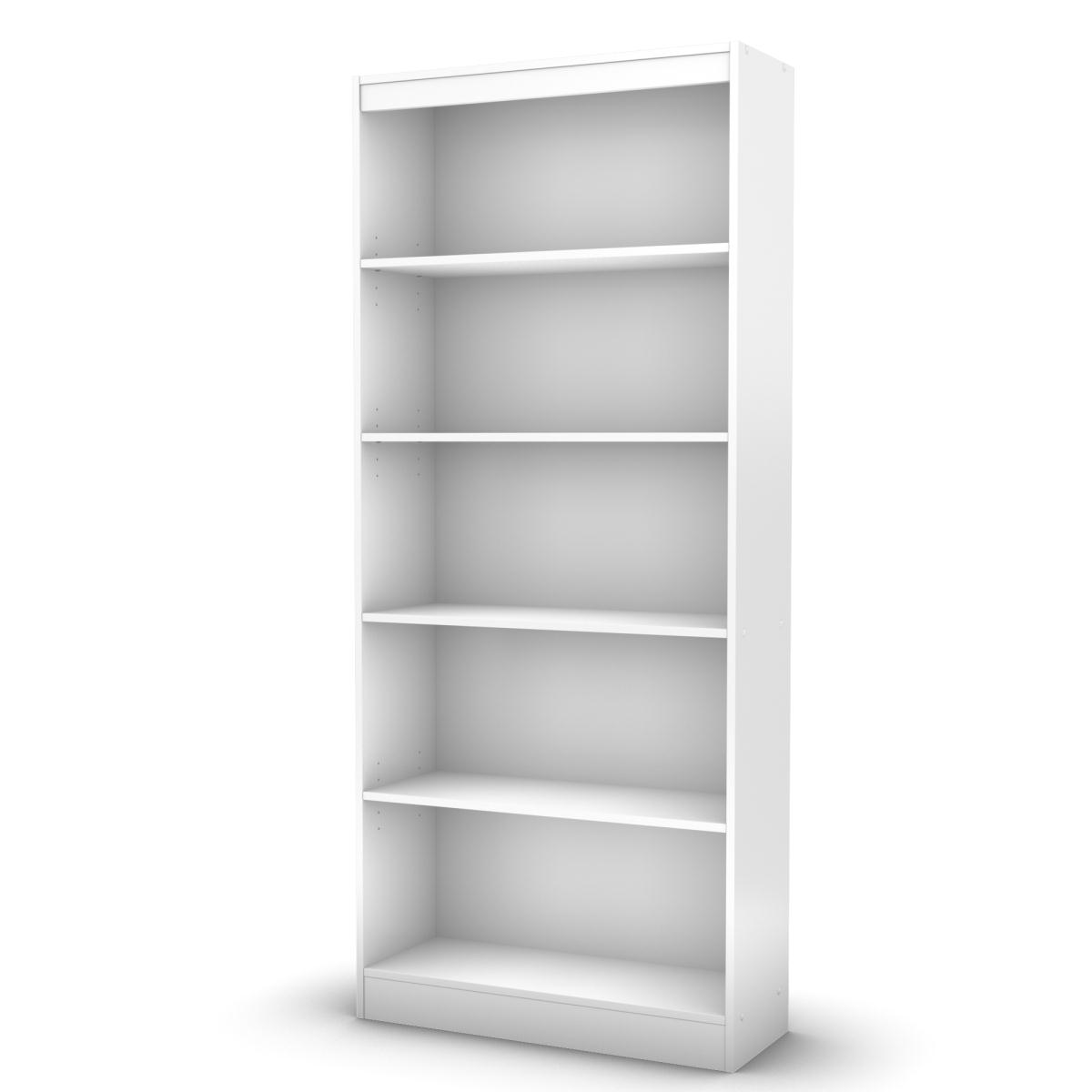 #666666 SS 7250768c Collection 5 Shelf Bookcase Pure White South Shore 30  with 1200x1200 px of Most Effective 15 Wide Bookcase 12001200 wallpaper @ avoidforclosure.info