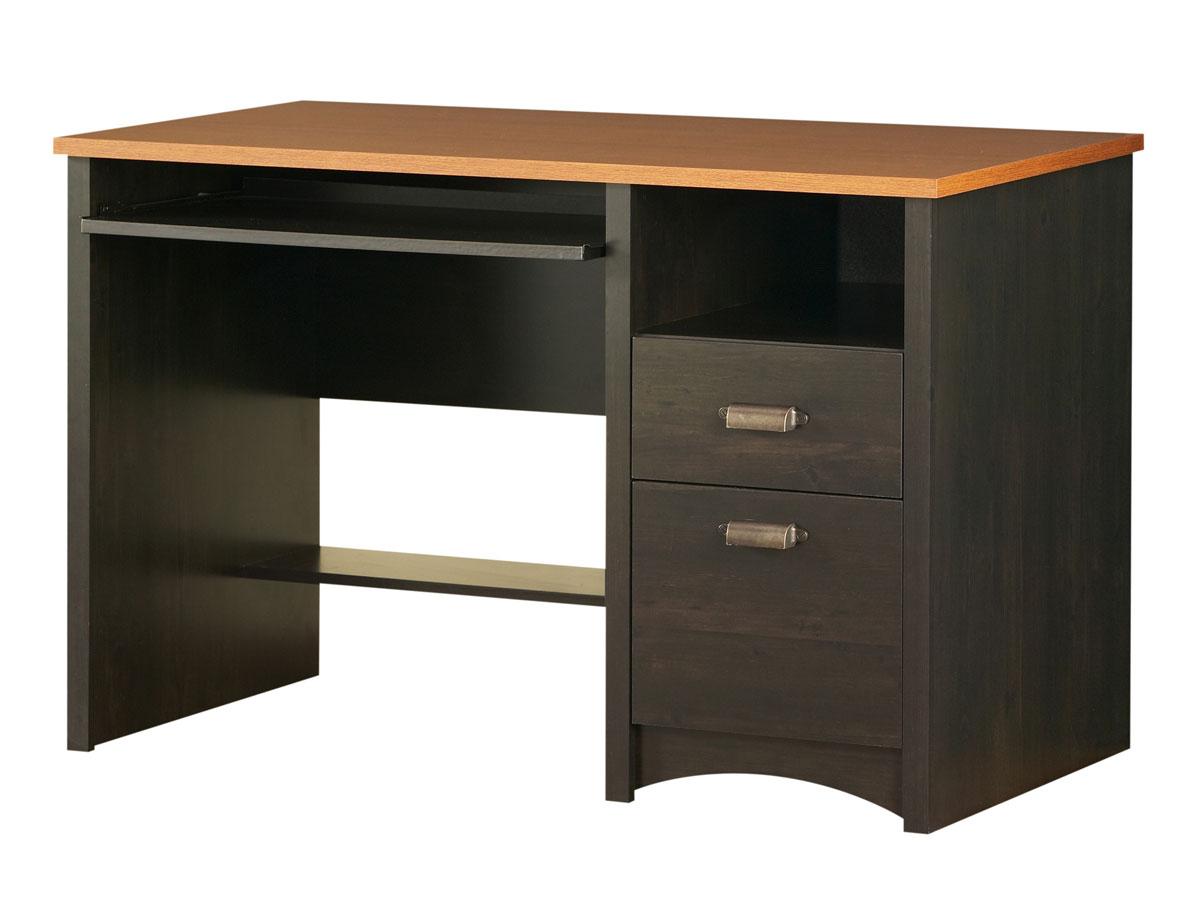Cheap South Shore Gascony Ebony and Spice Wood Computer Desk