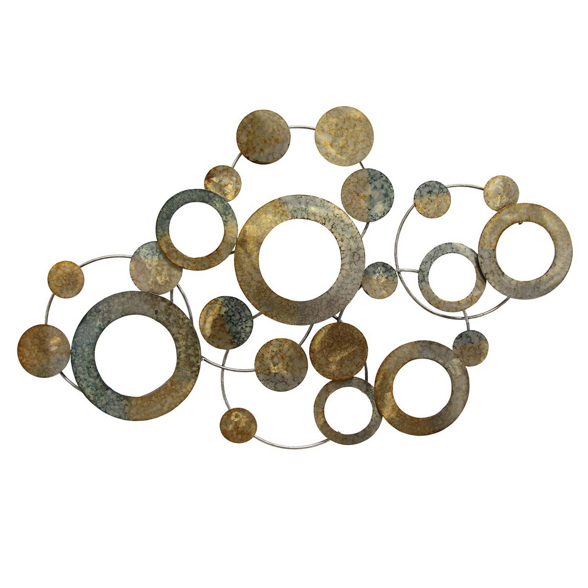 Metal Circle Wall Decor stratton home decor metal metallic circles wall decor - multi
