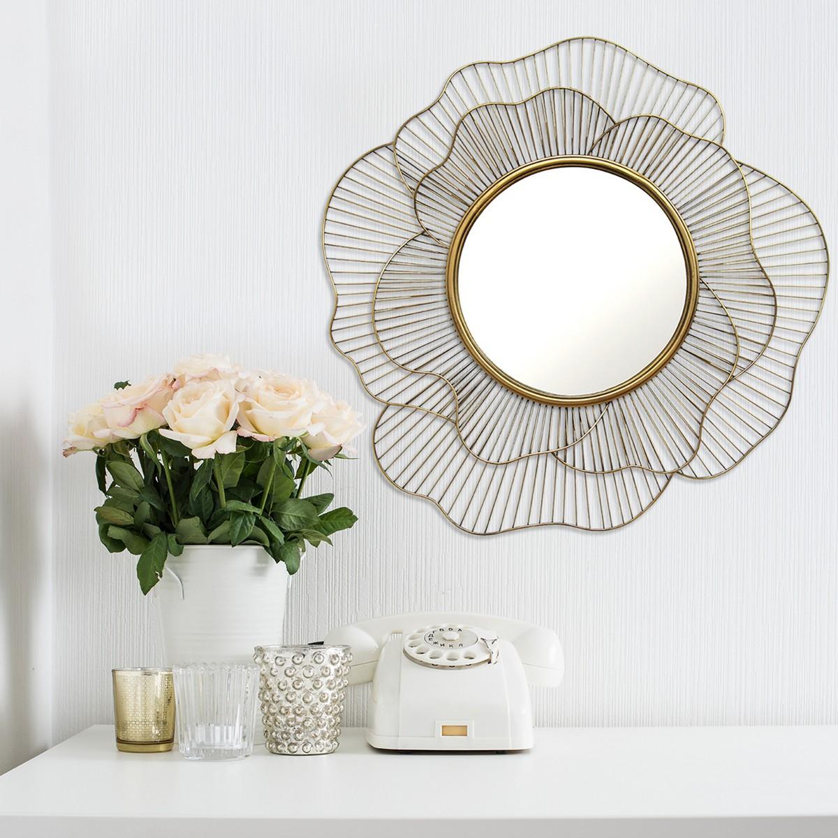 Stratton Home Decor Stella Wall Mirror - Gold