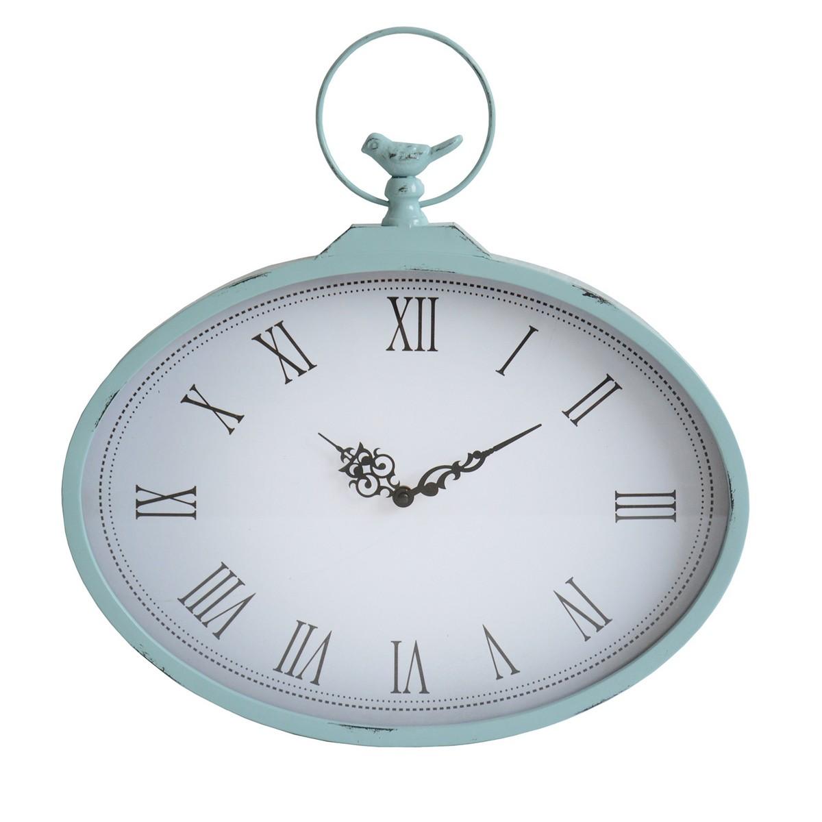 Stratton Home Decor Shabby Wall Clock - Light Blue