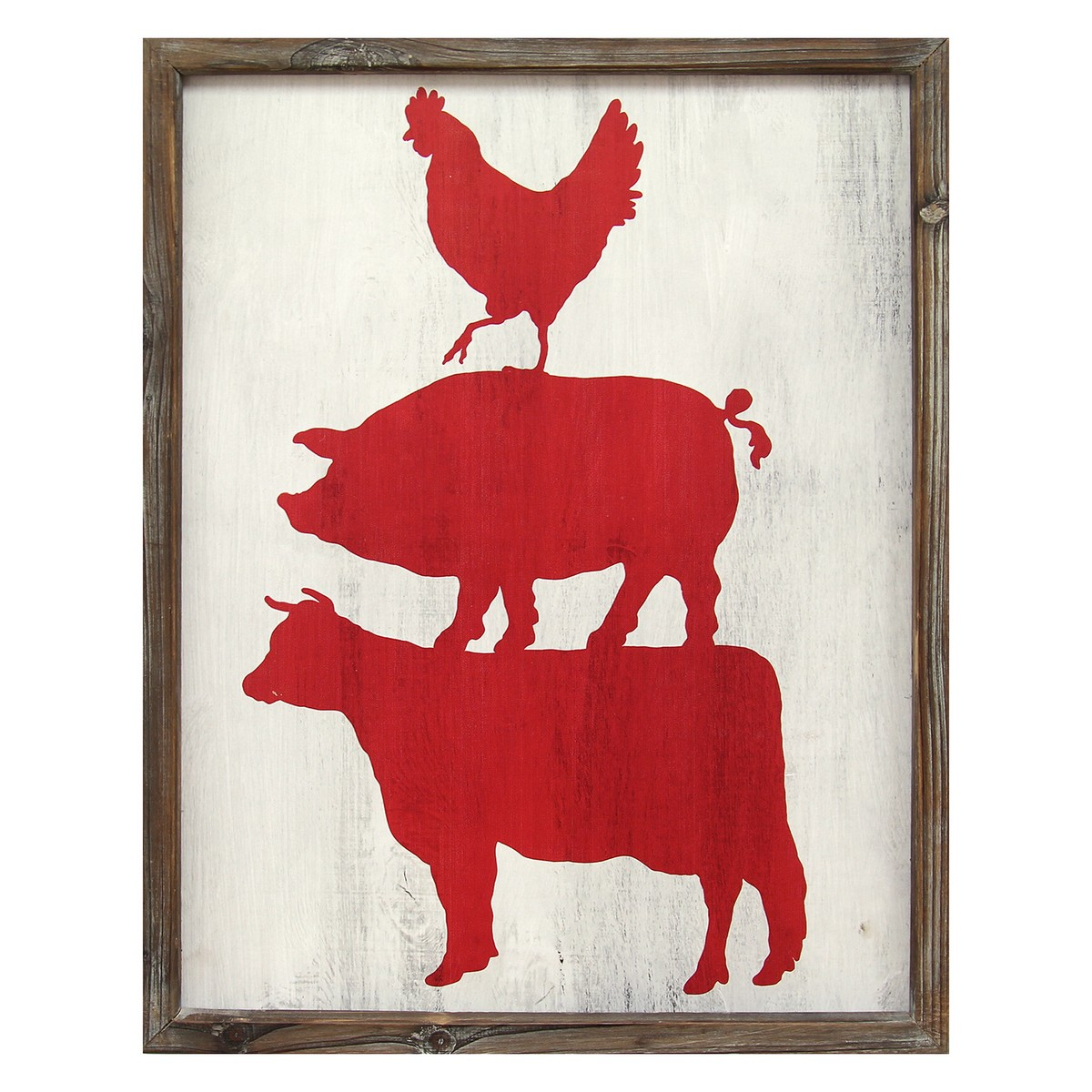 Stratton home decor cow pig rooster wall art multi for Stratton house