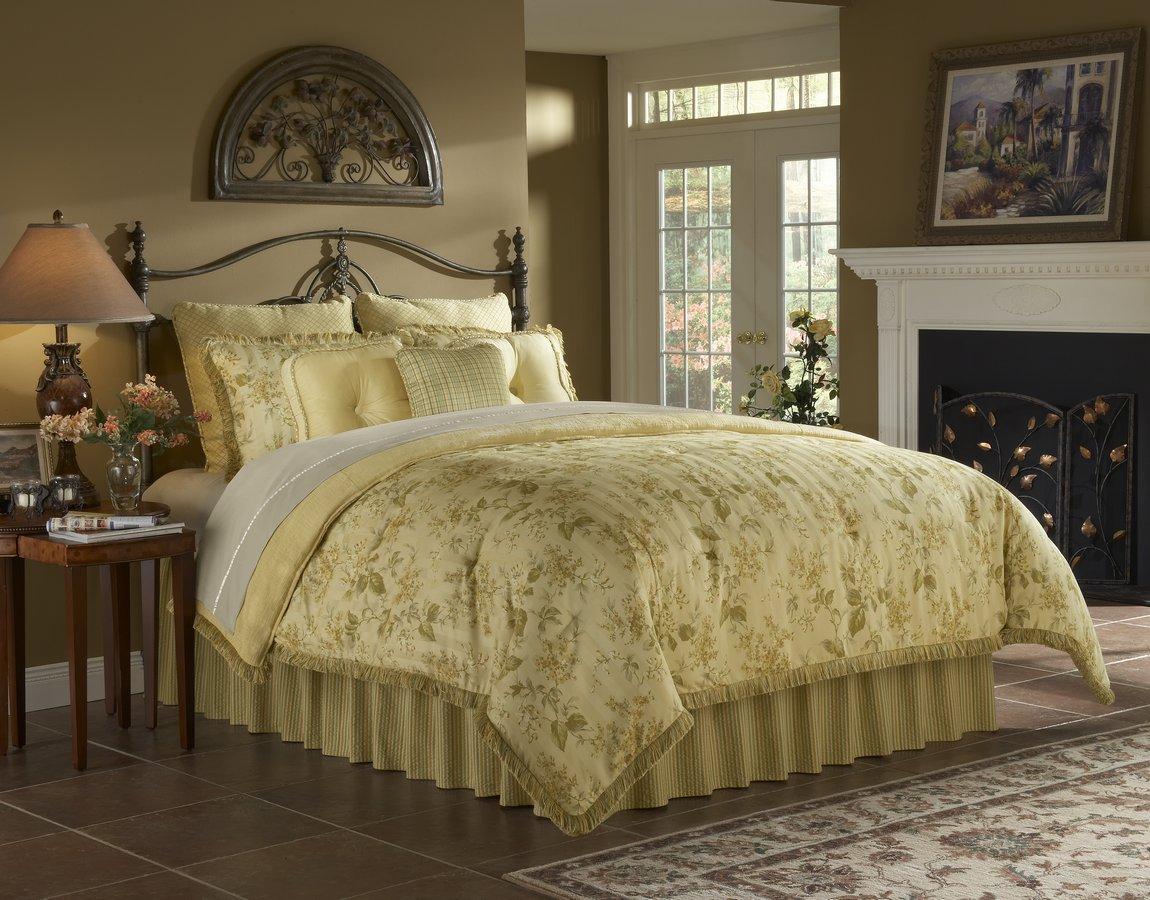 Southern Textiles Yellow Lilac Bedding