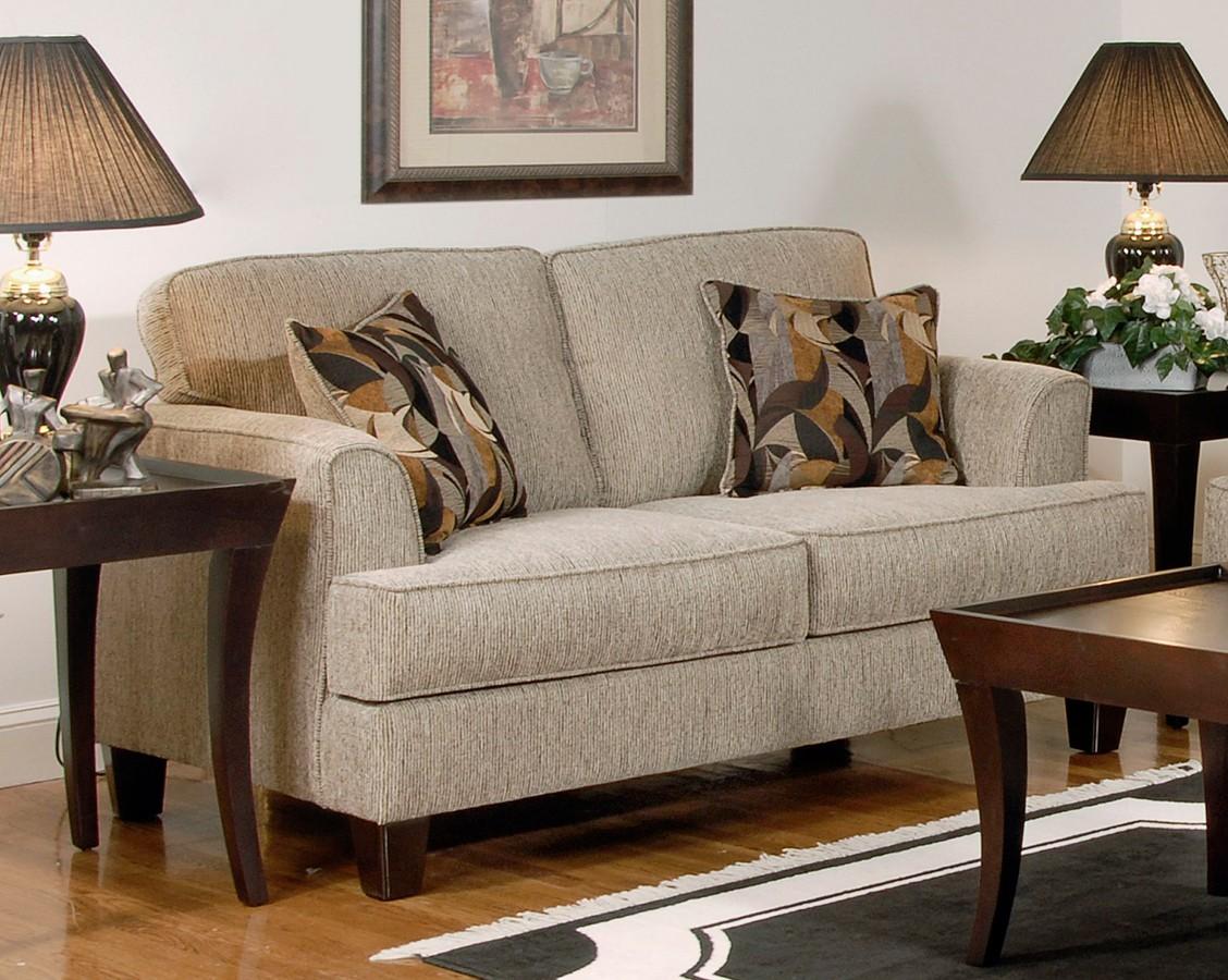 Precious Serta Upholstery SU L Tribeca Love Seat Soprano Beige Product Photo