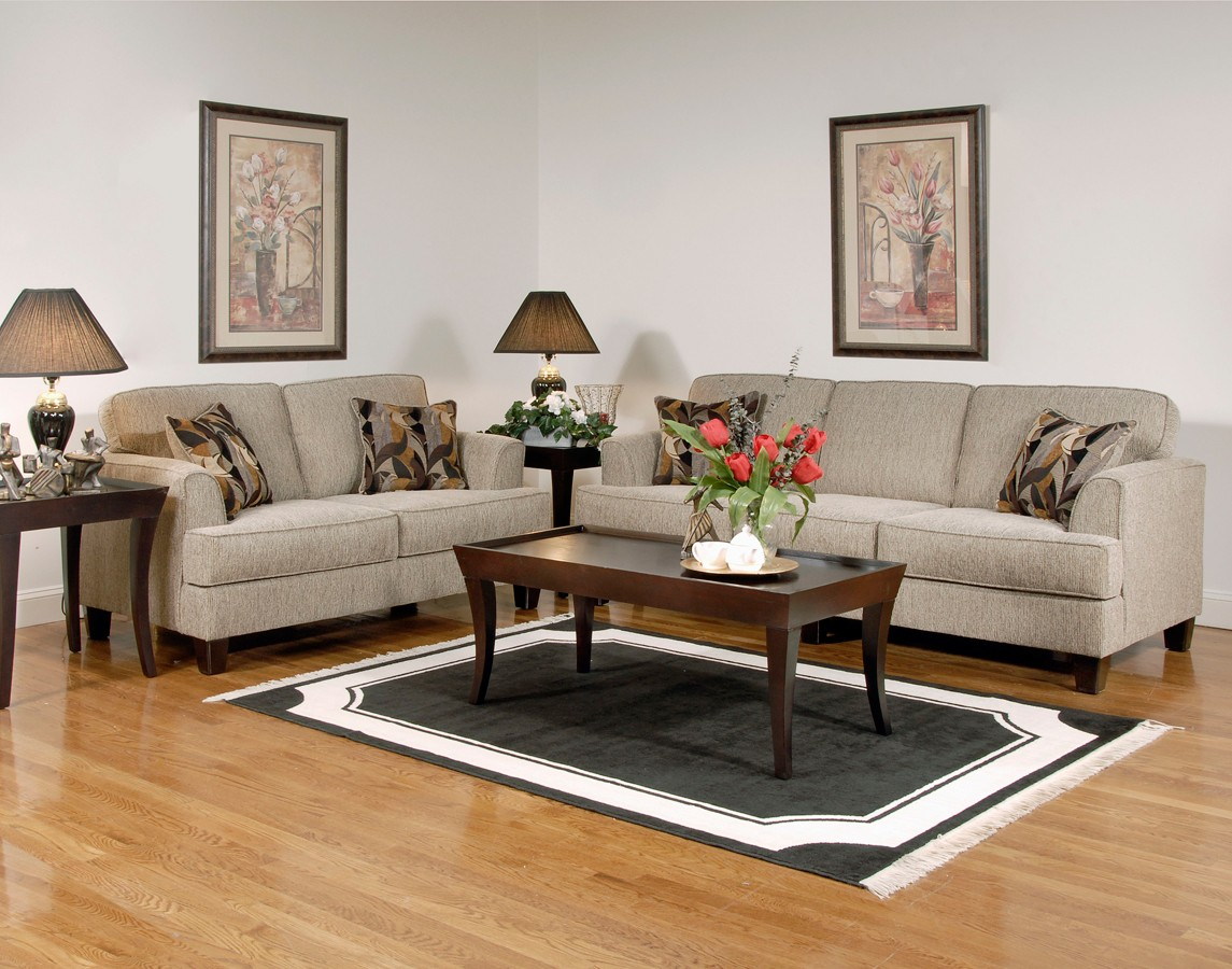 Serta upholstery tribeca sofa set soprano beige su for Sofa and loveseat set