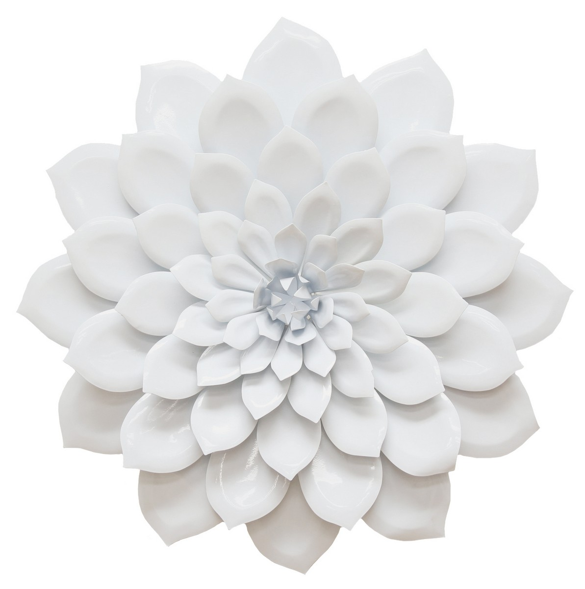 Wall Decor White Flowers : Stratton home decor layered flower wall white