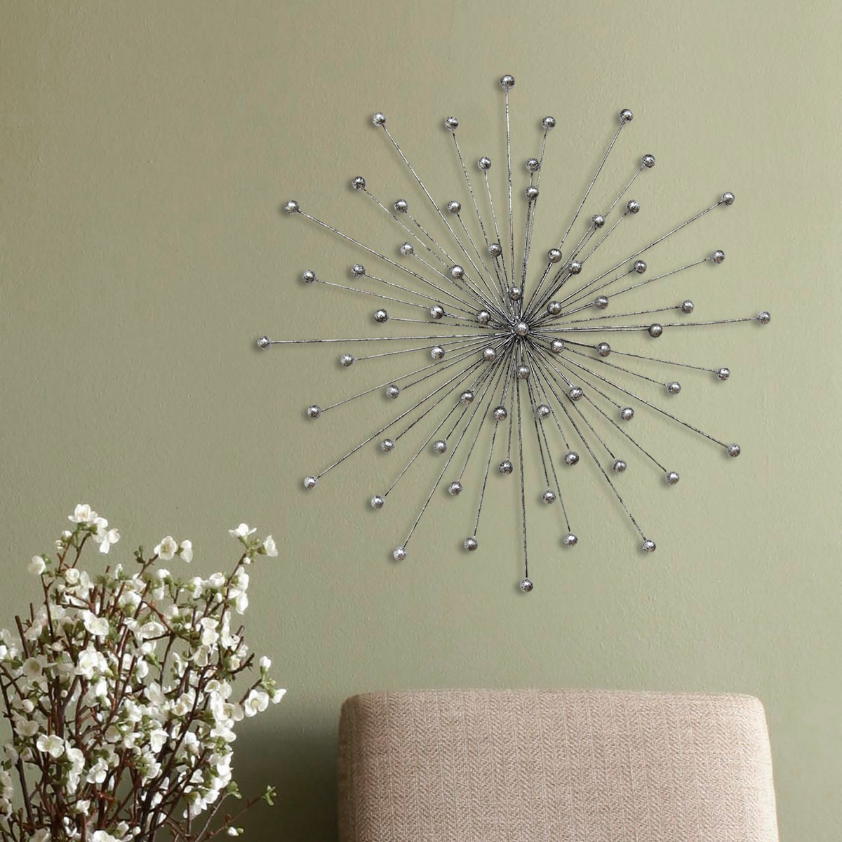 Stratton Home Decor Silver Burst Wall Decor - Silver