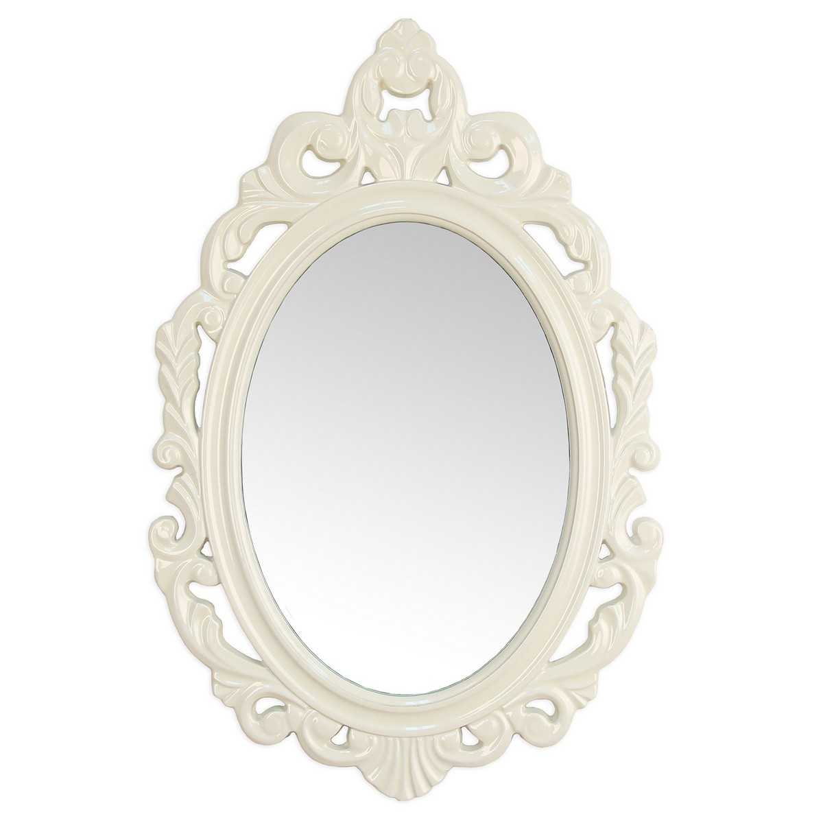 Stratton Home Decor White Baroque Mirror - White