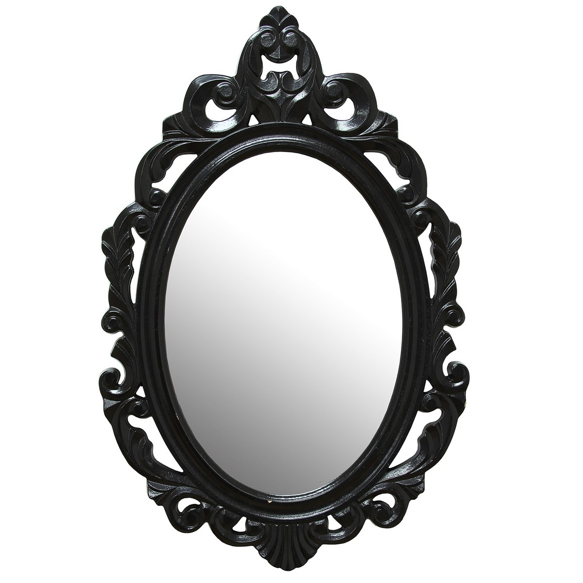 Stratton Home Decor Black Baroque Mirror - Black