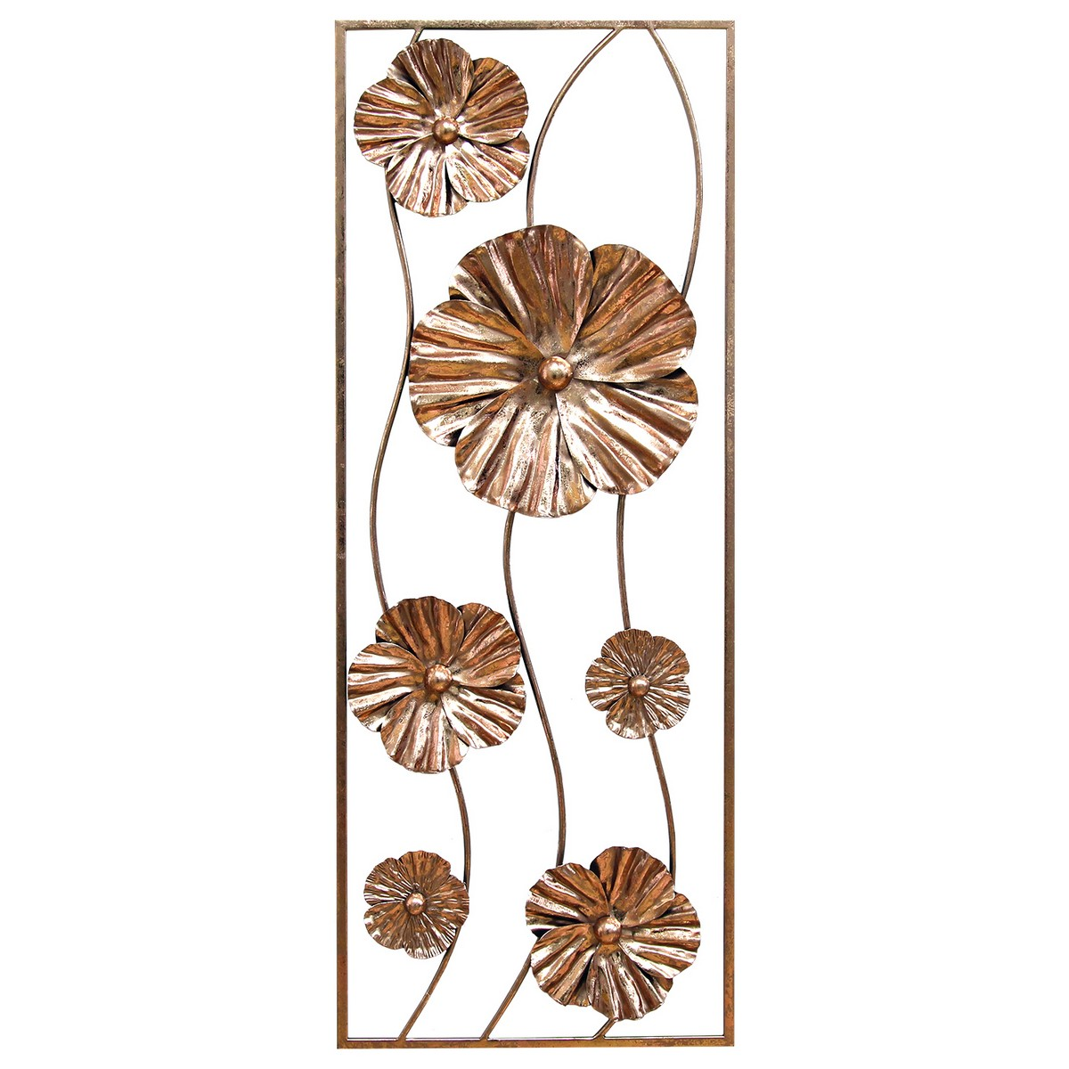 Stratton home decor rose gold flower panel wall decor for Decoration rose gold