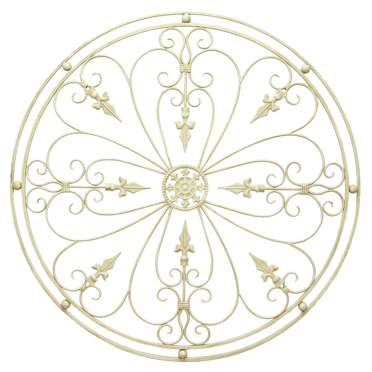 Stratton Home Decor Rustic Medallion Wall Art White ~ Stratton home decor antique medallion wall white