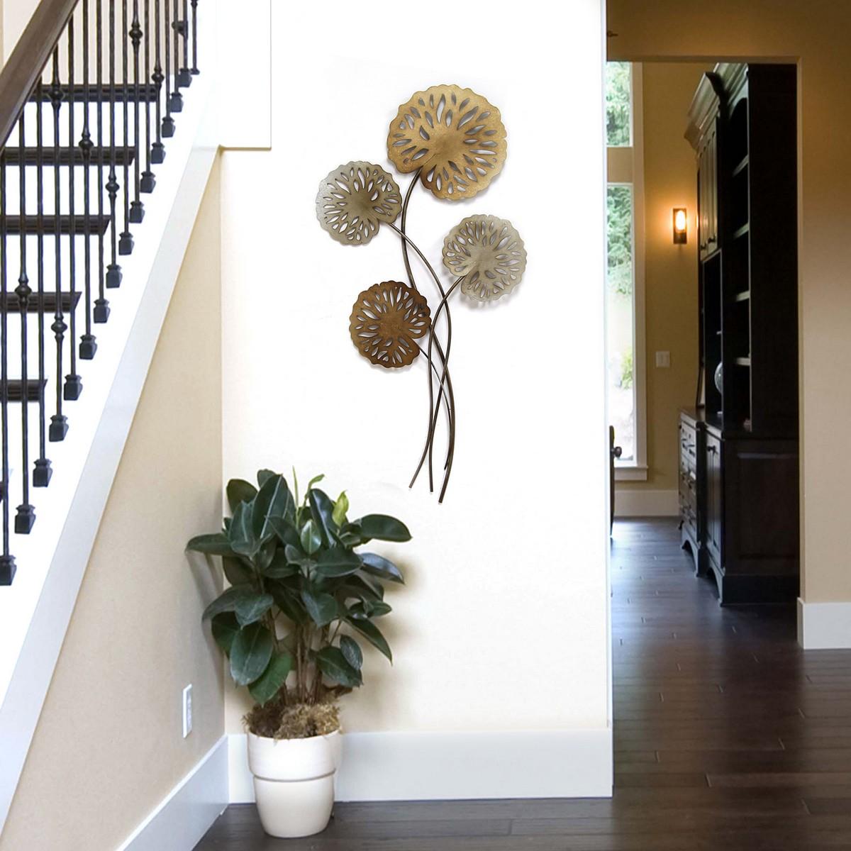 Stratton Home Decor Water Lilies Wall Decor - Multi Metallic