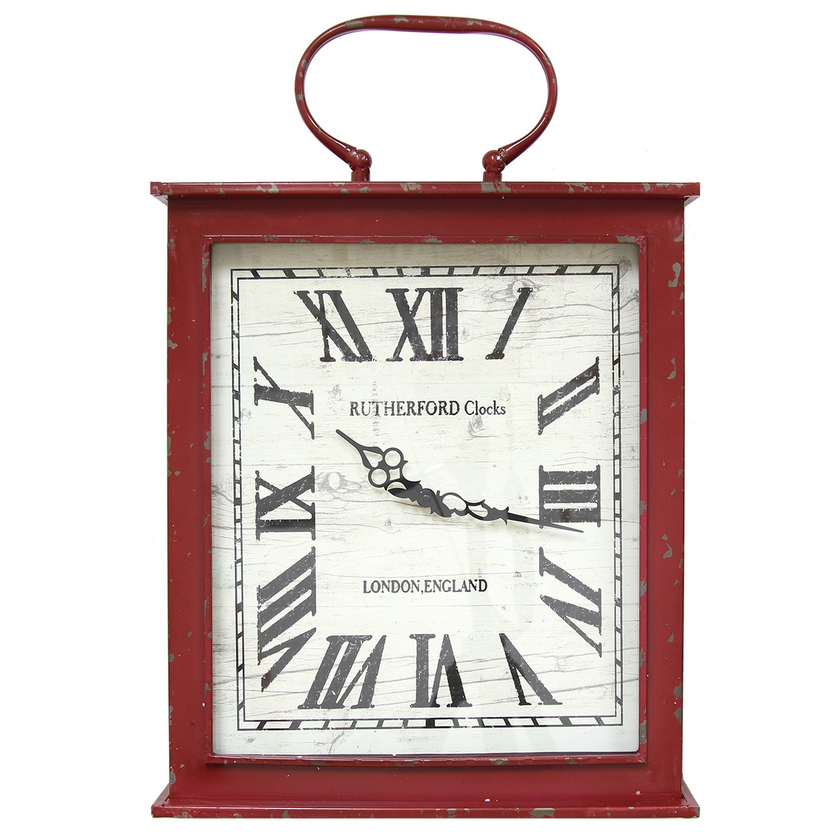 Stratton home decor vintage red wall clock red shd0185 for Stratton house